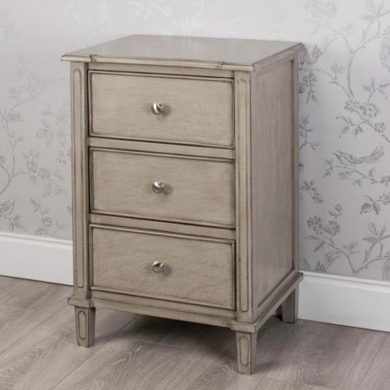 Pearl 3 Drawer Bedside/Side Table
