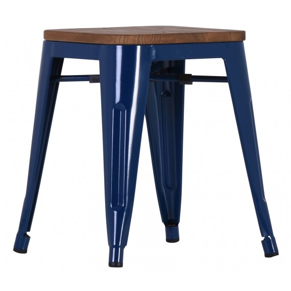 Low Industrial Stacking  Stool (Set of 4)