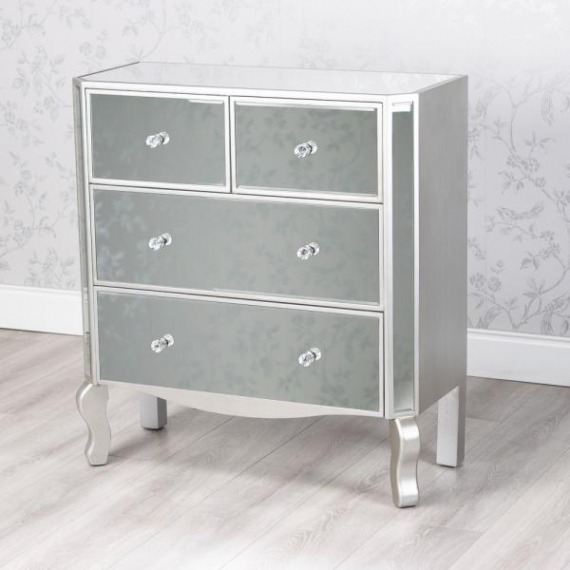 Mirrored Glass Dressing Chest