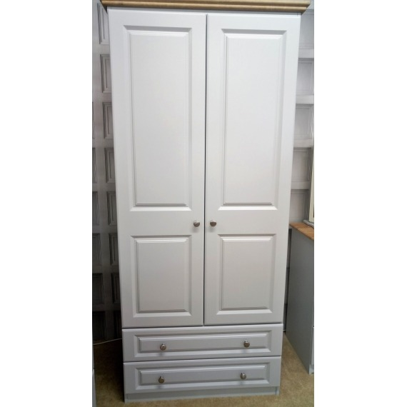 Hannah Double Wardrobe with Drawers