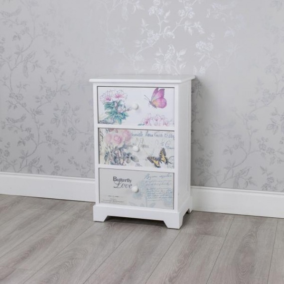 Fuschia 3 Drawer Unit