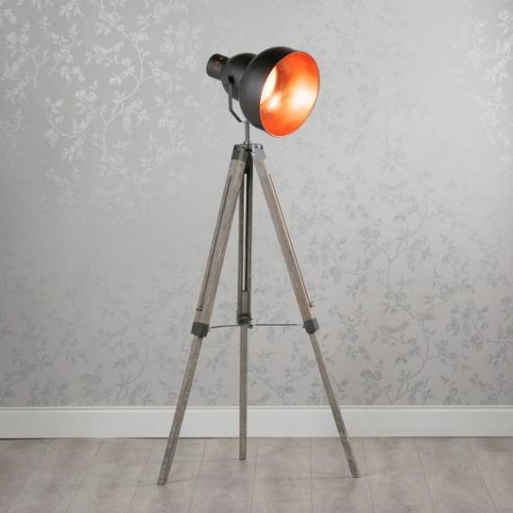 Hollywood Tripod Floor Lamp (Round)