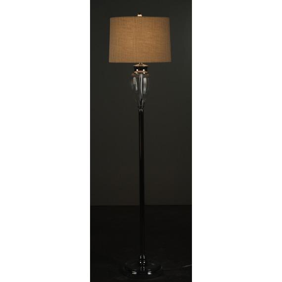 Palermo Metal Ribboned Glitter Floor Lamp