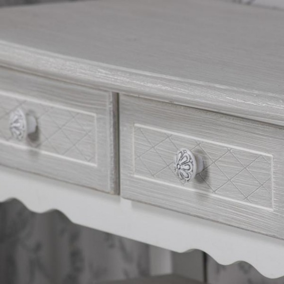 Bramley Grey & White 2 Drawer Console Table