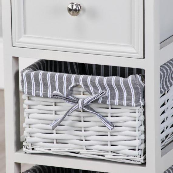 Emma Grey 2 Basket Slim Storage Unit