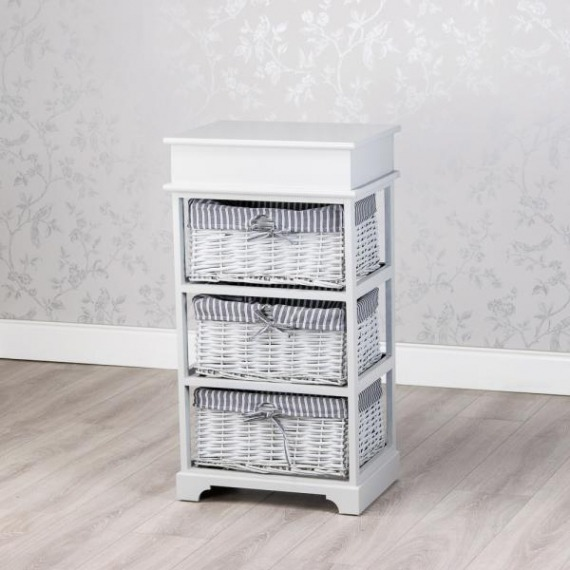 Emma Grey 3 Basket Storage Unit
