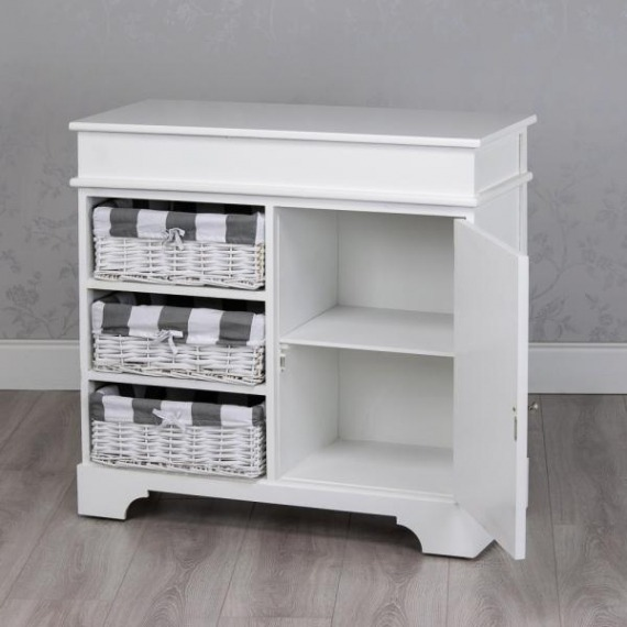 Jill White Storage Unit (3 Basket)