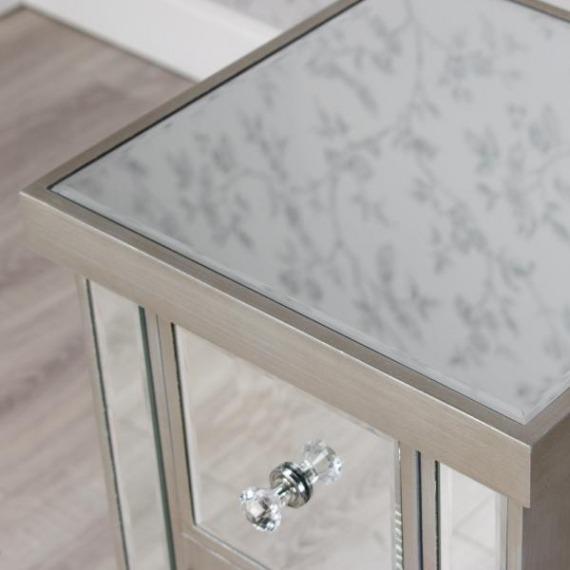Mirrored Mini Side Table