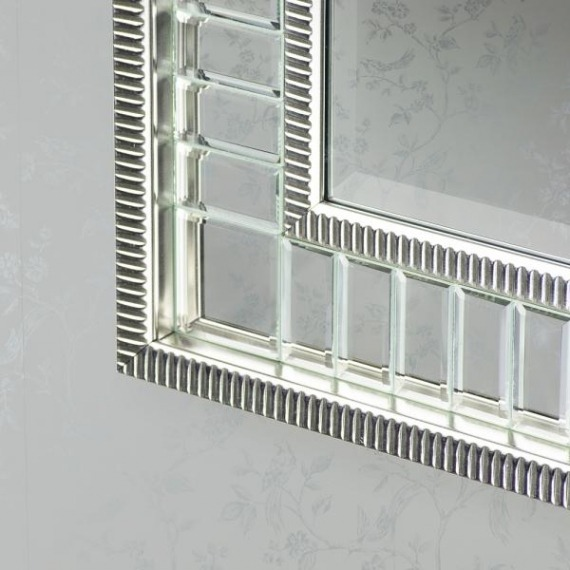 Kara Silver Accent Wall Mirror