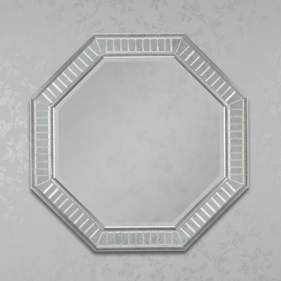 Kara Silver Octagon Mirror