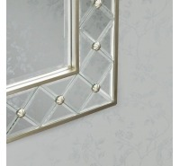News Studded Accent Wall Mirror