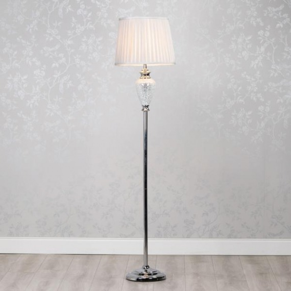 Sarah Crackled Mosaic Floor Lamp