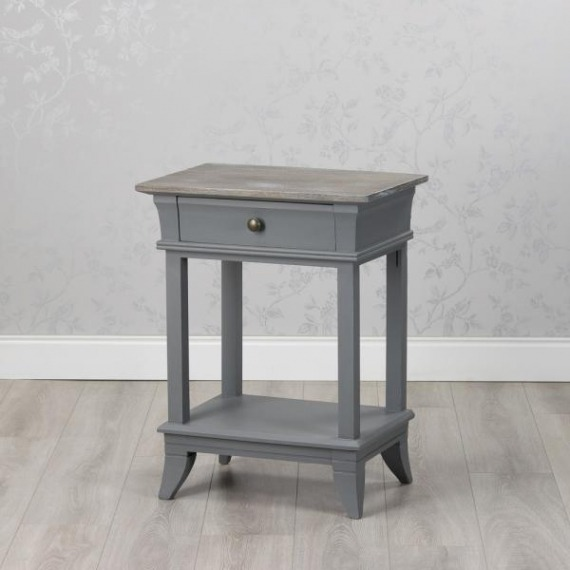 Basildon Side Table with Drawer & Shelf