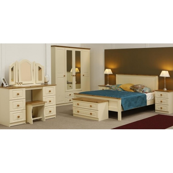 Ella Double Wardrobe with Drawers