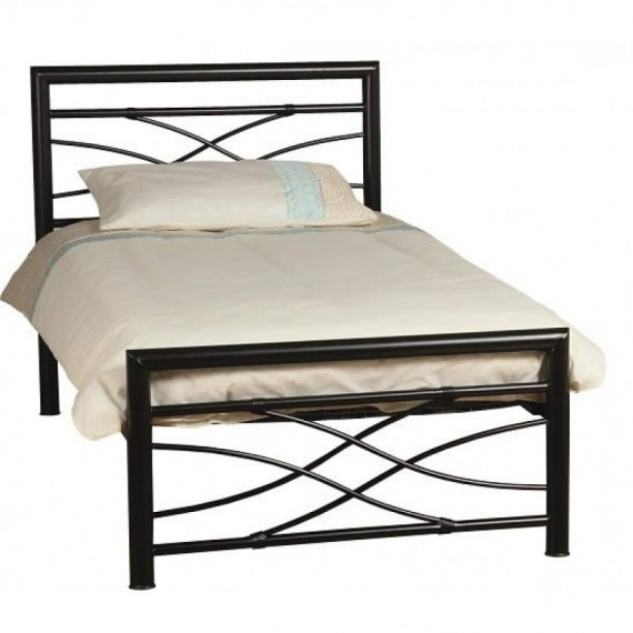 Avey Black Metal Bed Frame