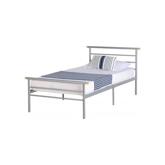 Creek Silver Metal Bed Frame