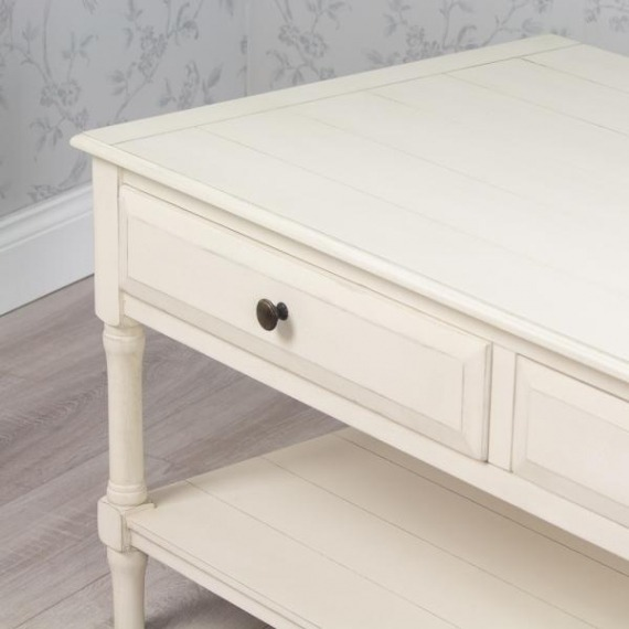 Cosmo Coffee Table With Drawers & Shelf
