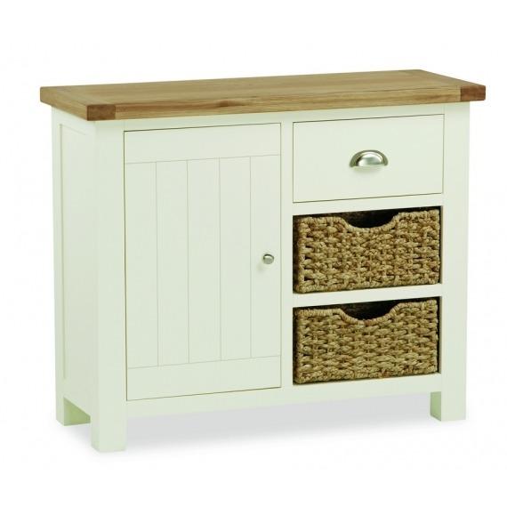 Cream Solid Oak Sideboard Small