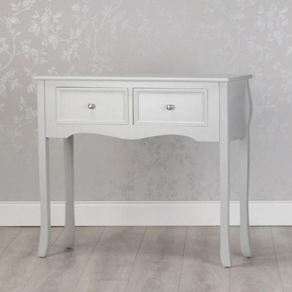 Cally Grey 2 Drawer Console Table