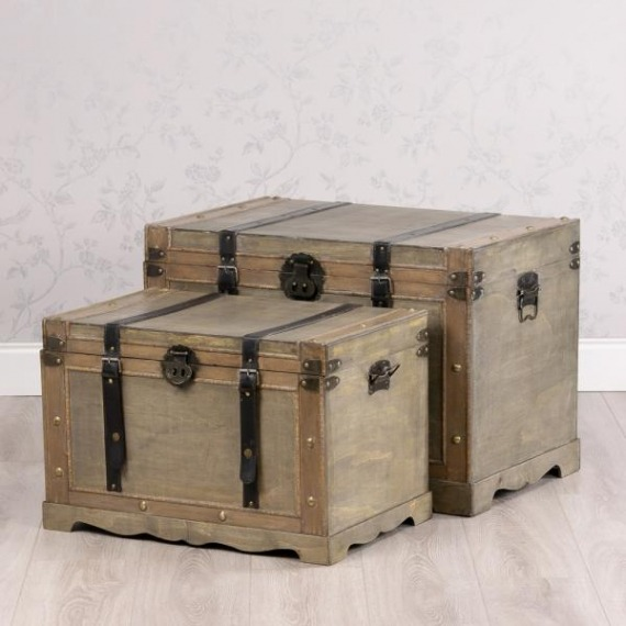 Set of 2 Vintage Storage Chests