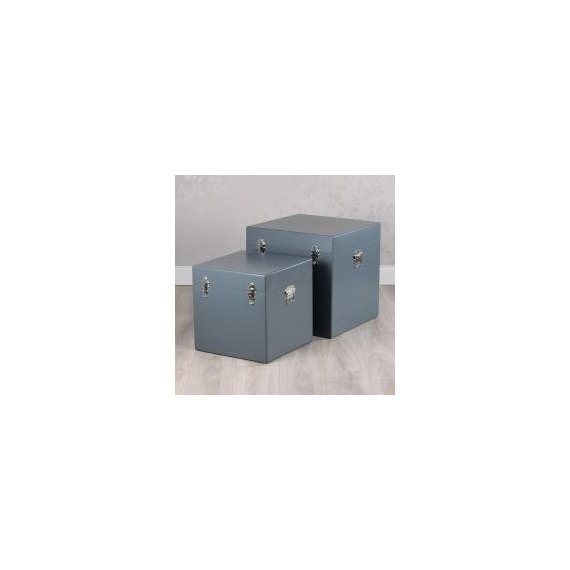 News Set of 2 Square Storage Trunks