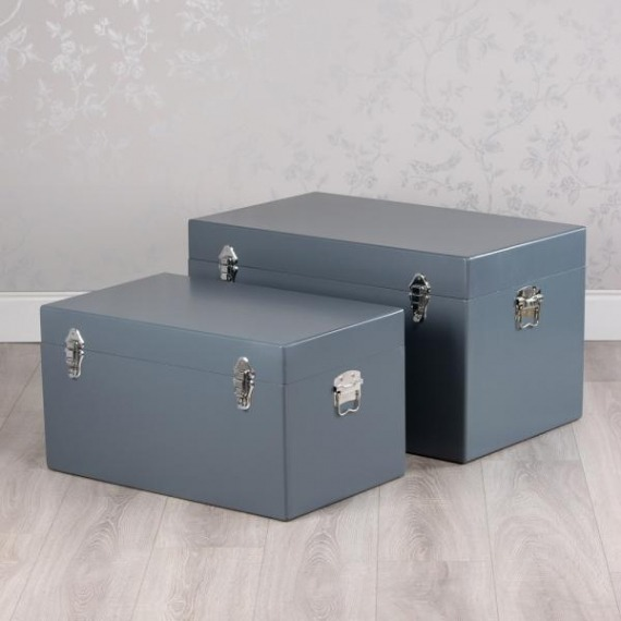 News Set of 2 Rectangle Storage Trunks