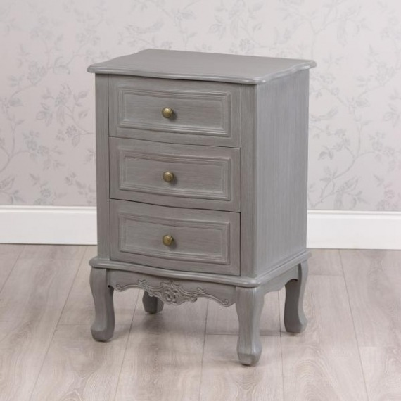 Maison Grey 3 Drawer Side Table