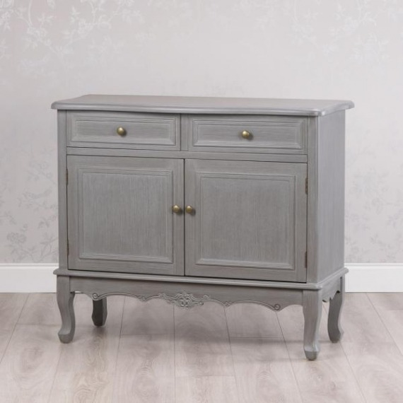 Maison Grey 2 Drawer 2 Door Cabinet
