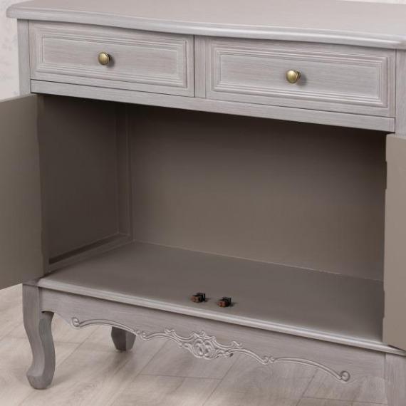 Maison Grey 2 Drawer 2 Door Cabinet