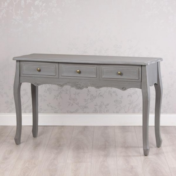 Maison Grey 3 Drawer Console Table