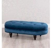 Oval Bench Smooth Velvet