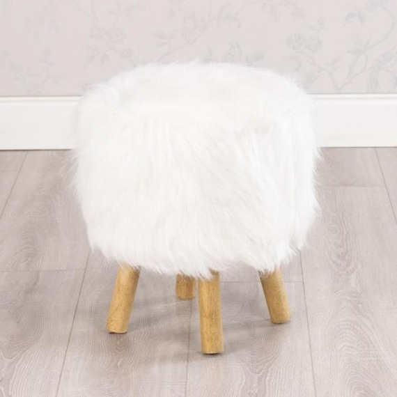 Shaggy Round Stool