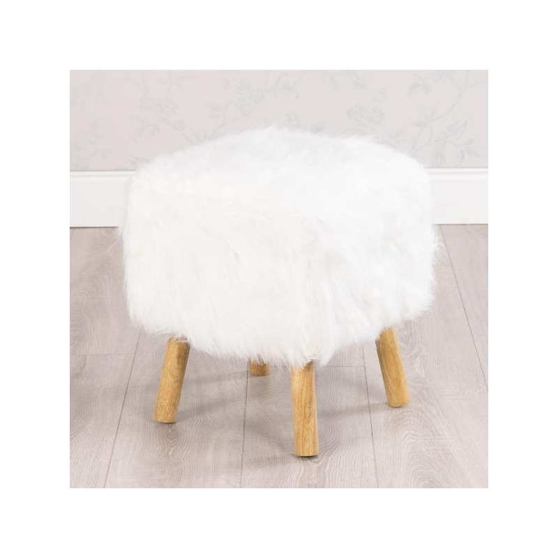 Tremendous Shaggy Square Stool Pabps2019 Chair Design Images Pabps2019Com