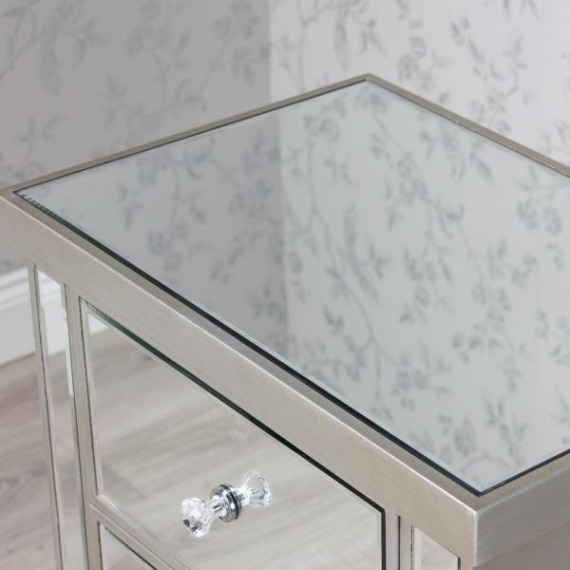 3 Drawer Mirrored Bedside Locker