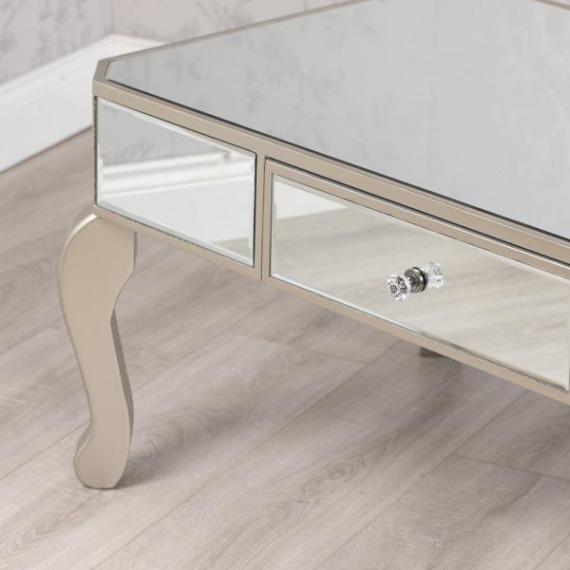 Bowen Mirrored Glass Coffee Table