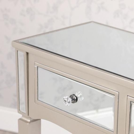 Bowen Mirrored Glass 2 Drawer Console Table