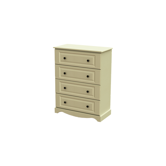 Rococo 4 Drawer Deep Chest