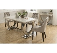 Luna Marble 1.8m Dining Table