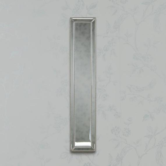 Beaded Trim Slim Mirror