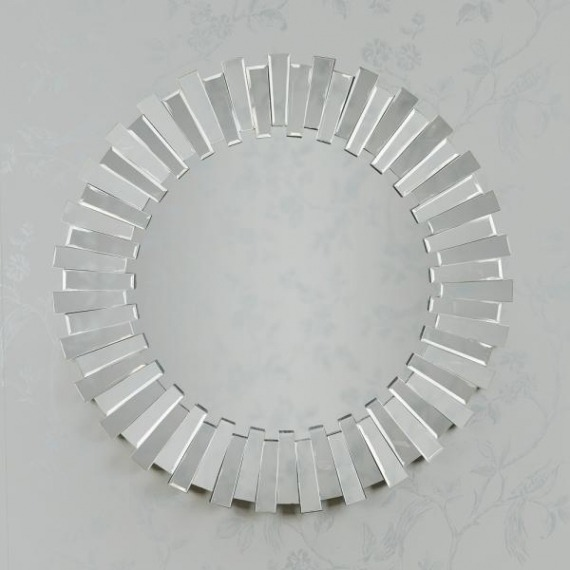 Link Round Accent Wall Mirror 90cm
