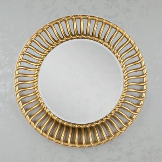 Rosamund Round Gold Wall Mirror 90cm
