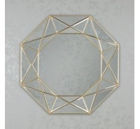 Links Geometric Accent Mirror