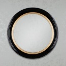 Penny Round Mirror Black/Gold 90cm