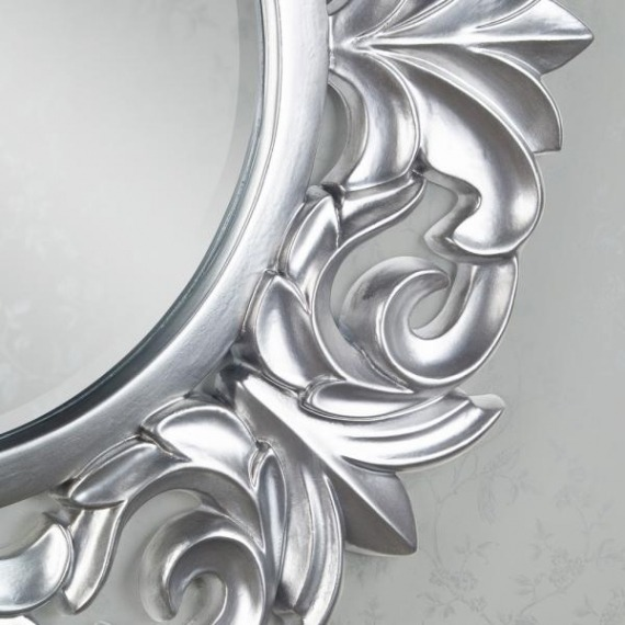 Abigail Round Decorative Mirror
