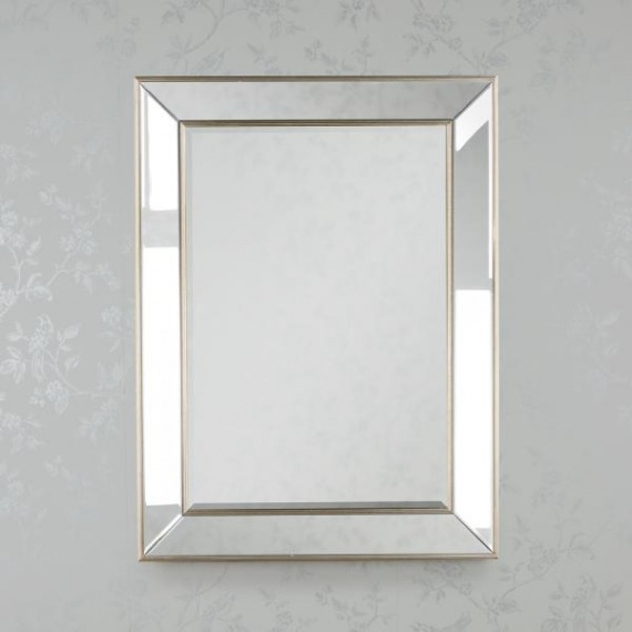 Bowen Glass Champagne Clear Wall Mirror