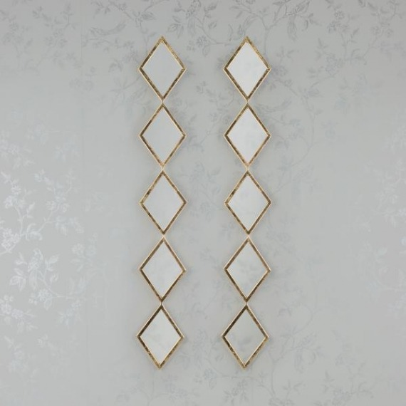 Diamond Mirror Set (Set of 2)
