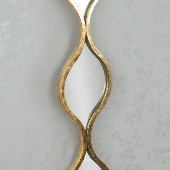 Aida Mirror Set (Set of 2) Silver & Gold