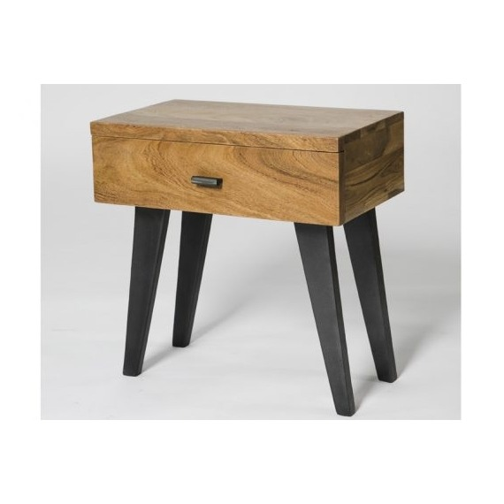 Industry Side Table with Drawer