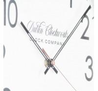 Nina Modern Silver Clock 35cm