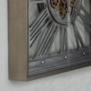 Wesley Gears Clock Large Square 80cm